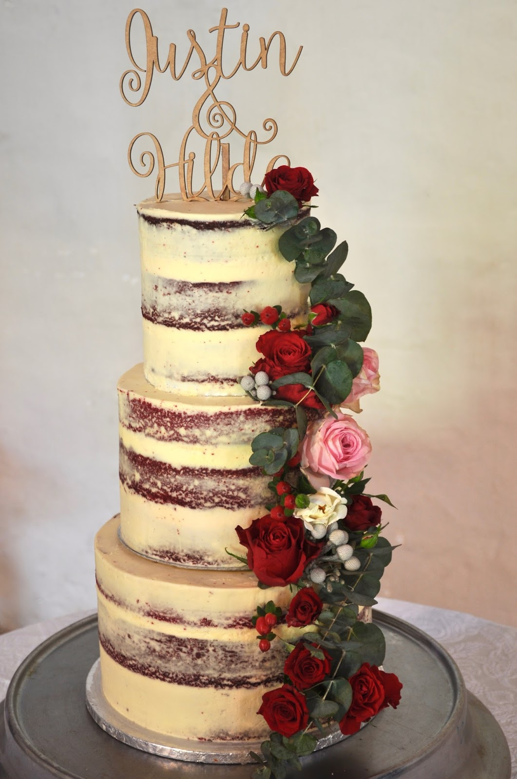 I Made This Lovely Three Tier Red Velvet Wedding Cake For A At Nooitgedacht Wine Estate Stellenbosch