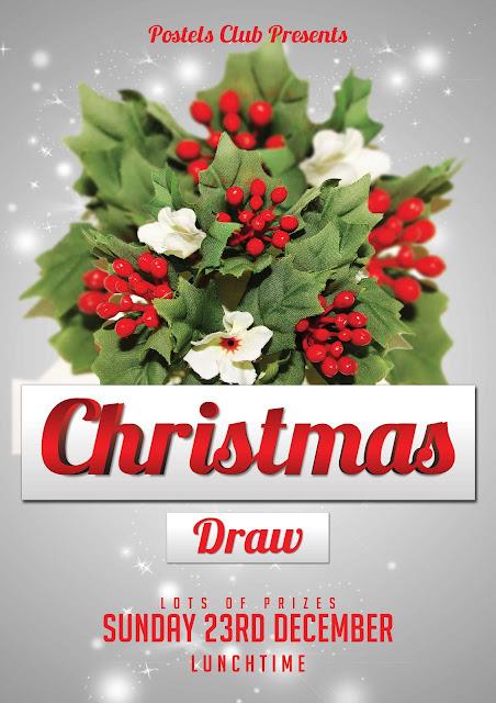 Craig barrett christmas draw poster for Christmas raffle poster templates