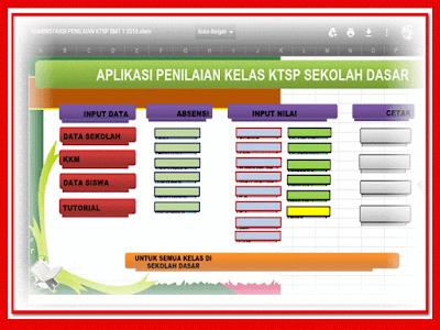 Aplikasi Raport UTS KTSP  Format Xlsm