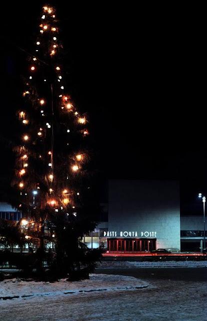 1965 год. Rīga. Stacijas laukums. Pasta nodaļa pie Centrālās dzelzceļa stacijas