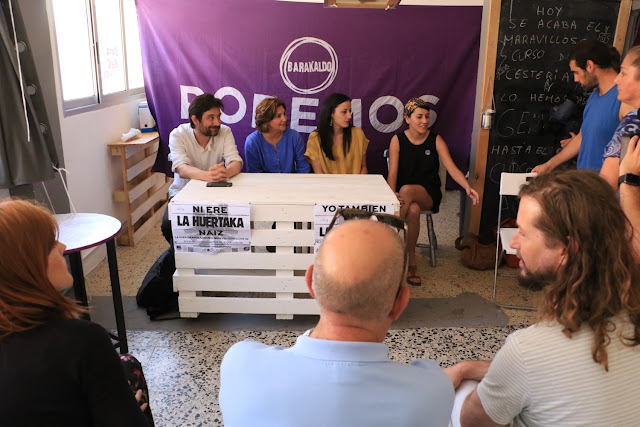 Reunión de Podemos en Barakaldo