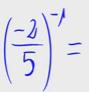 Potencia de exponente negativo 3