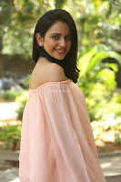 Rakul Preet Singh in lovely Pink Crop Top and Black Trousers at Jaya Janaki Nayaka success meet 041.JPG