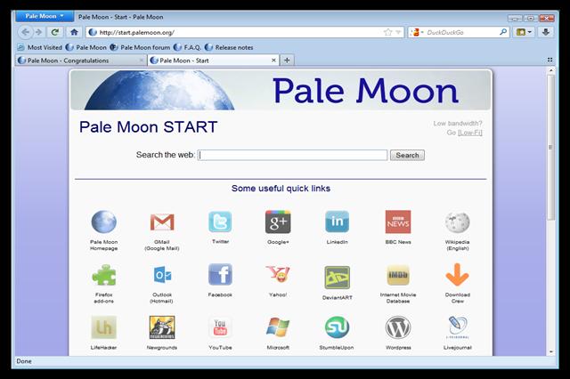تحميل متصفح الإنترنت بال مون Pale Moon للويندوز