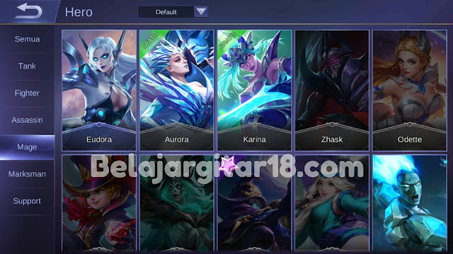 Hero Jenis Mage di Mobile legends