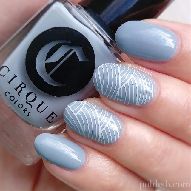 Stamped nail art with Hehe plate and Cirque Colors | polilish