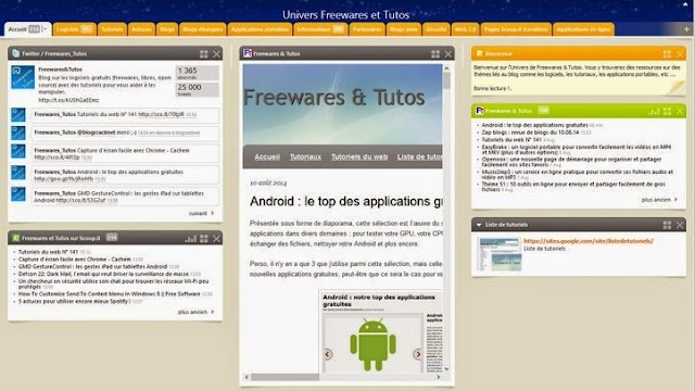 Univers Netvibes de Freewares et Tutos remis à jour