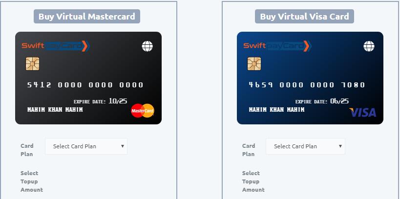 SwiftPaycard Best Virtual card 2018 / Debit card Visa