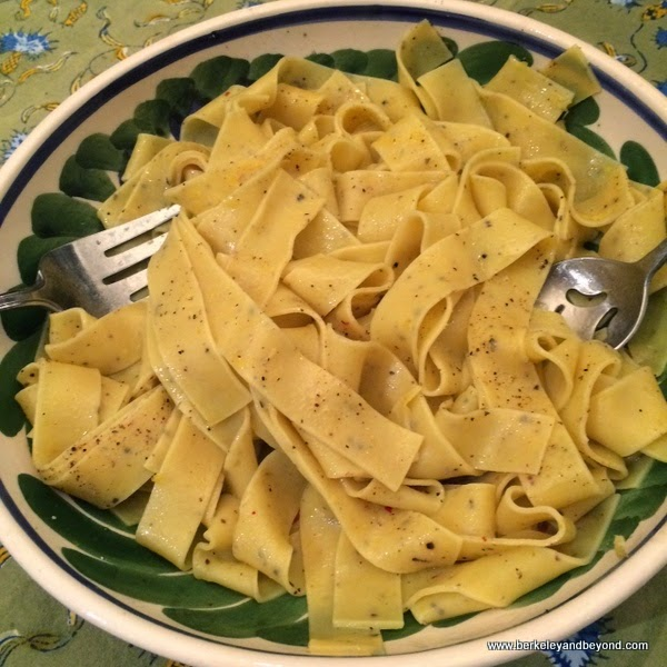 Recipe--SuperSimple Lemon Pepper Pappardelle Pasta