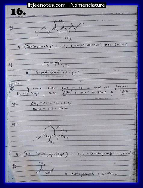Nomenclature CHEMISTRY6