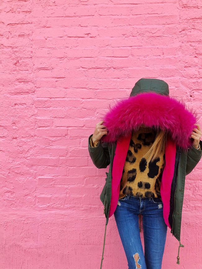 The only coat a fashionista needs, Chicago Blogger, Jennifer Worman, The best coat for winter, Pink Fur Coat