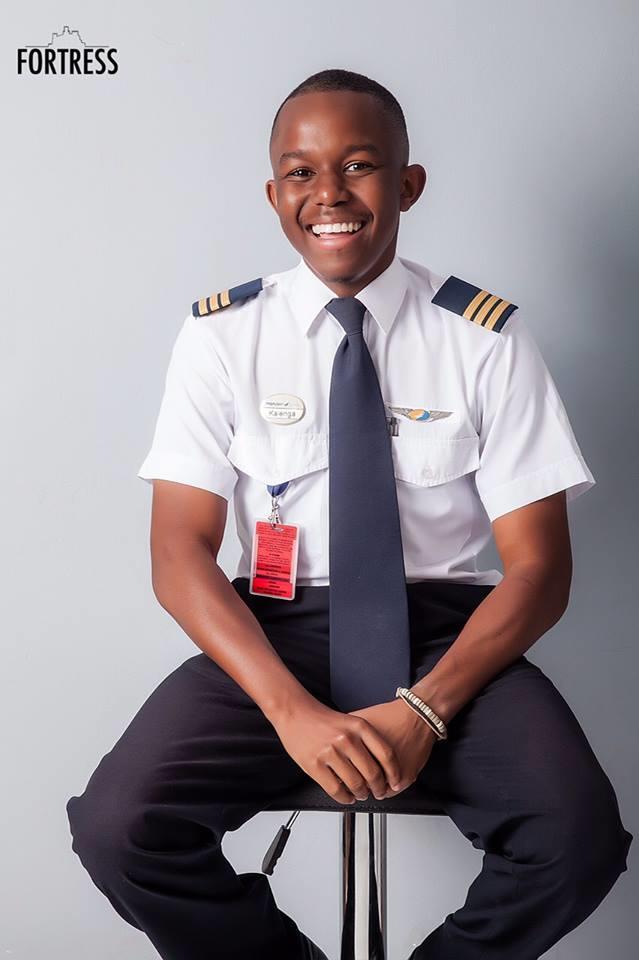 Meet 21-year-old Zambia's youngest pilot Kalenga Kamwendo