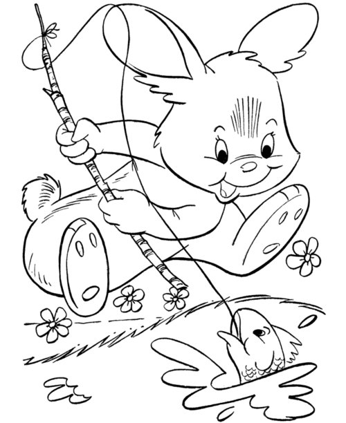 princess bunny coloring pages | Free Coloring Pages for Kids » Tinkerbell/Spongebob/Mickey ...