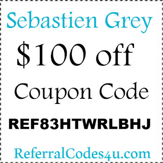 Sebastien Grey Promo Codes, Coupons & Discount Codes 2018-2019 Jan, Feb, March, April, May, June, July, Aug, Sep, Oct, Nov, Dec