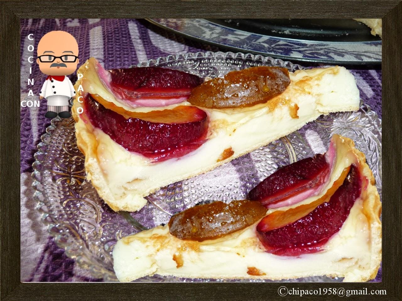 Cocina con Paco: Tarta de ciruelas y crema pastelera