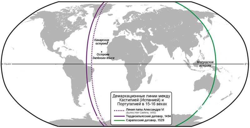 Зоны влияния Испании и Португалии табачная история