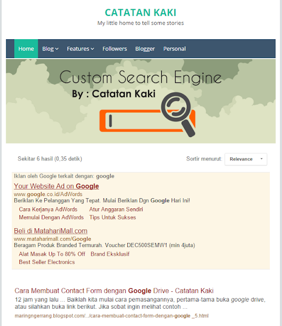 Cara Aktifkan Sort by Relevance Google CSE di Blog