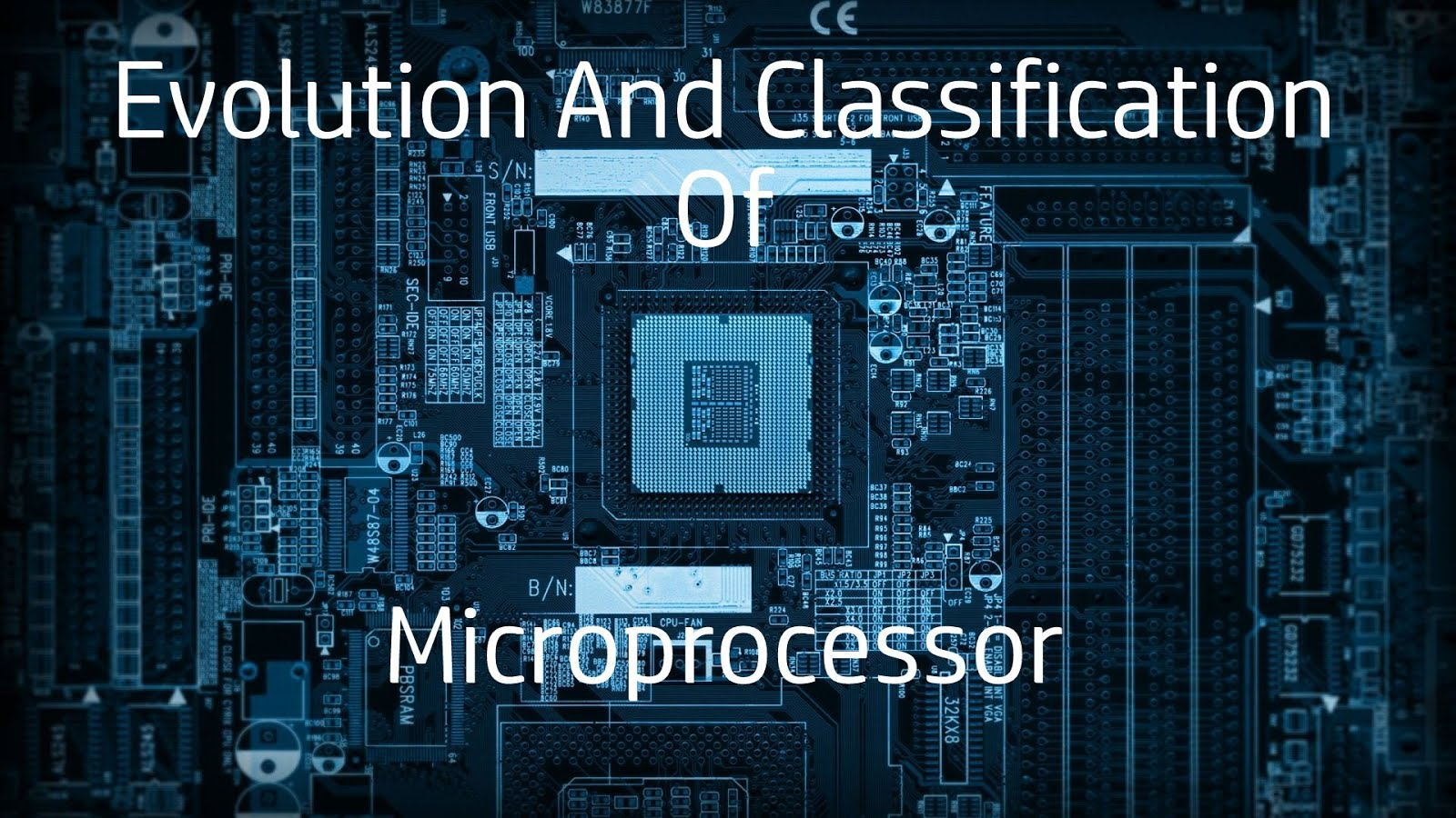 the evolution of microprocessors an overview Overview of microprocessors 3 a typical microprocessor architecture is shown in figure 12 the various functional units are as follows: figure 12 architecture of.