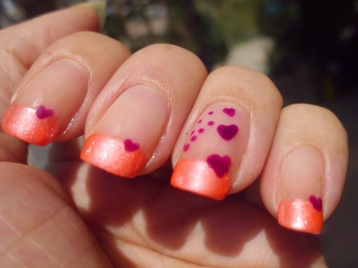 nail art de corazones