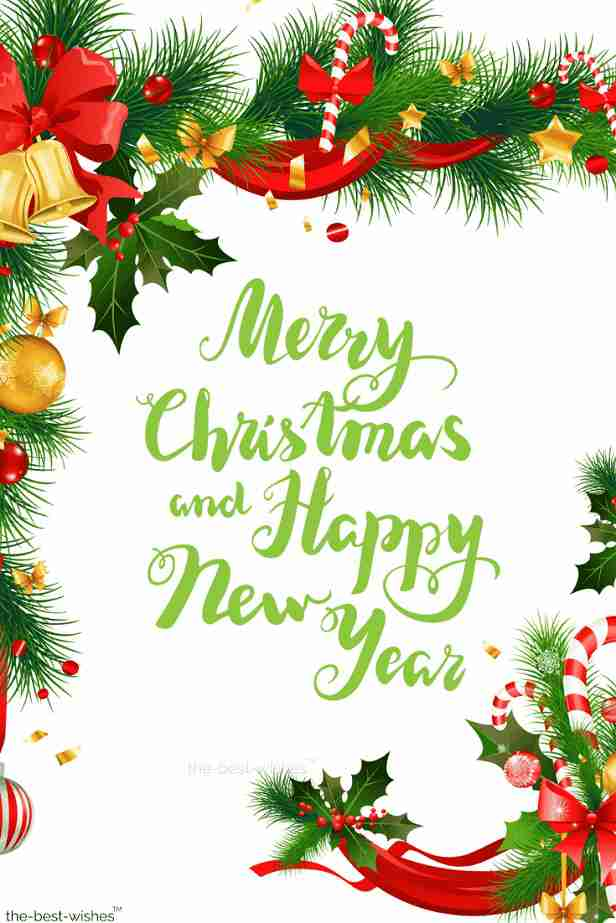 merry christmas hny wishes text picture