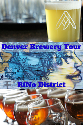 A Denver brewery tour through the RiNo (River North Art District) neighborhood.