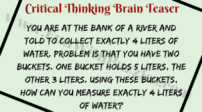 Critical Thinking Maths Brain Teaser