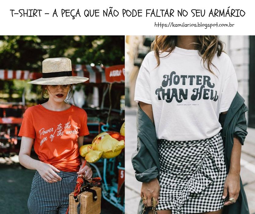 MODA - T-SHIRT A PEÇA QUE NÃO PODE FALTAR NO SEU ARMÁRIO