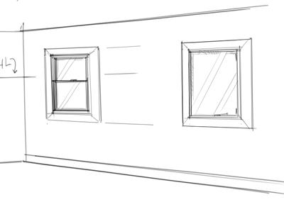 Interior Design Rendering: How to draw windows