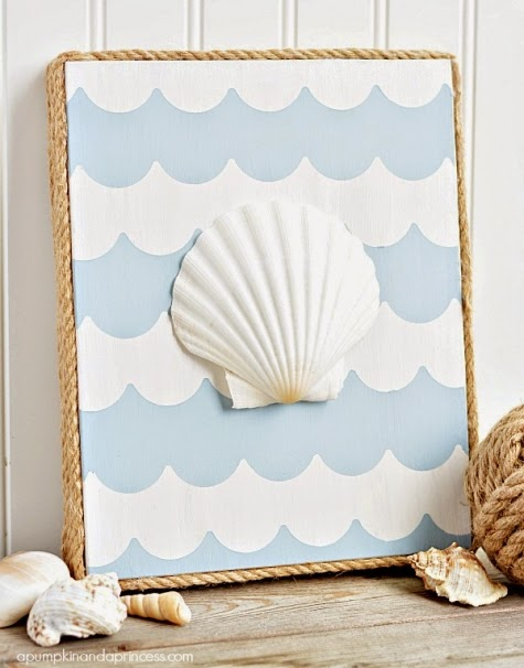 diy canvas with rope border