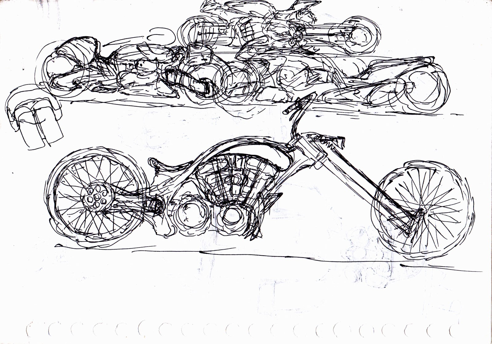 Motorcycle Sketch April
