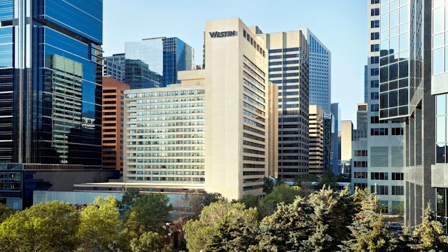 Westin Calgary downtown - great location! Can walk everywhere!!