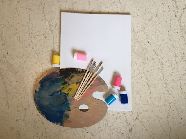 DIY εύκολος πίνακας για το παιδικό δωμάτιο που μπορείτε να φτιάξετε μαζί με τα παιδιά