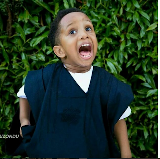 E-Money Shows Off The Cuteness In His Son, Chukwuebuka, As He Clocks 3 Today