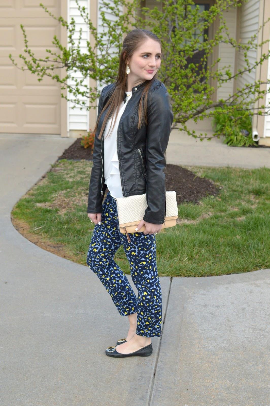 cute patterned cigarette pants