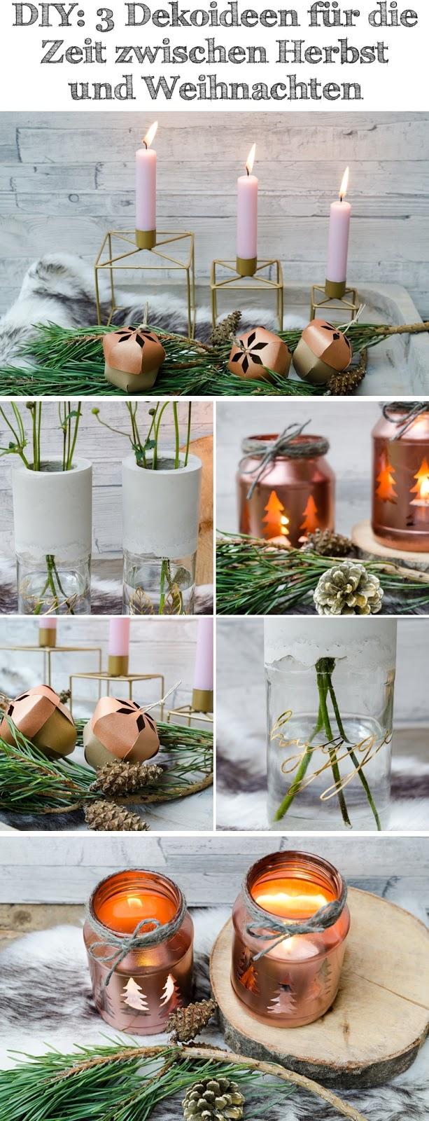 DIY: 3 Dekoideen für die Zeit zwischen Herbst und Weihnachten ...