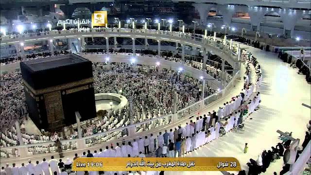 sholat maghrib di masjidil haram