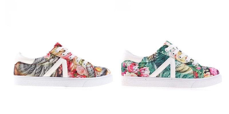 Adidasi fete ieftini colorati cu flori online de toamna