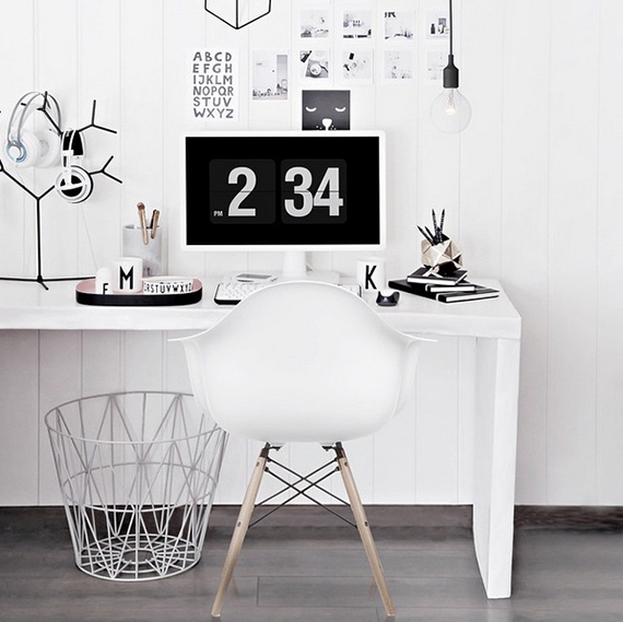 Scandinavian inspired home offices | onlydecolove on instagram