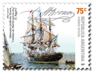 Adm. William Brown, Argentine Navy (stamp)