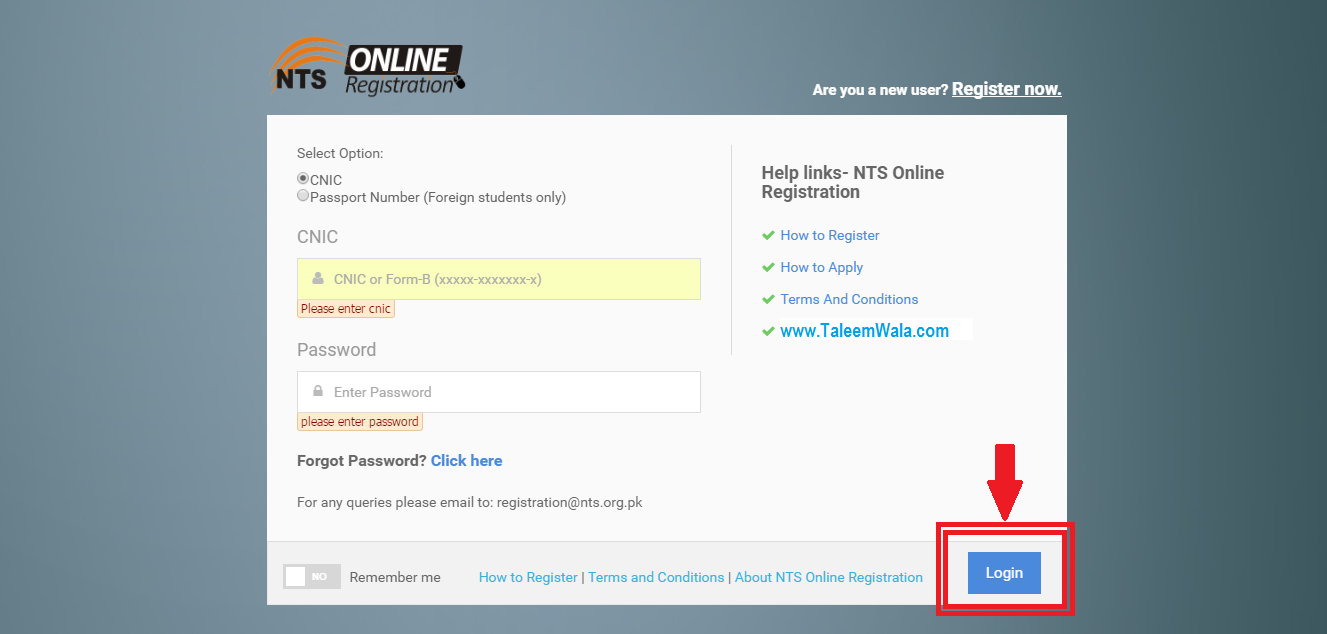 How to Register with NTS online and for Free?