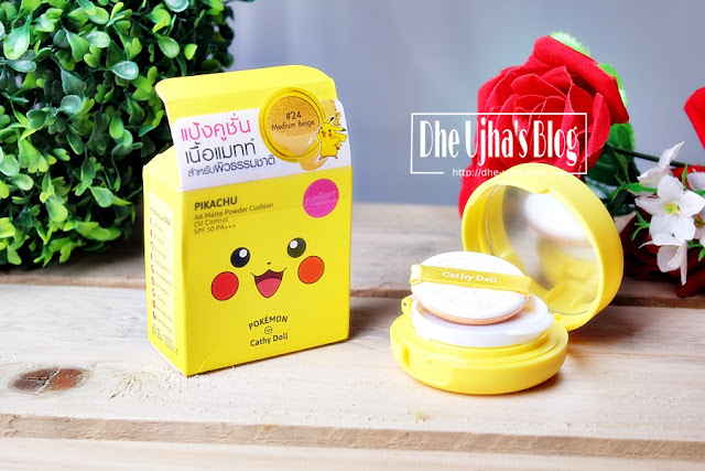 Catty Doll PIKACHU AA Matte Powder Cushion Oil Control