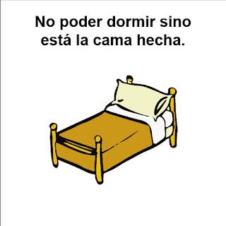 TOC : Trastorno obsesivo compulsivo de no poder dormir si no está hecha la cama.