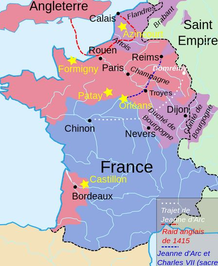 map of french 1415
