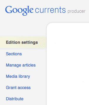 Google Currents producer screenshot