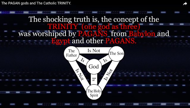 The shocking truth is, the concept of the TRINITY (one god as three) was worshiped by PAGANS from Babylon and Egypt and other PAGANS,