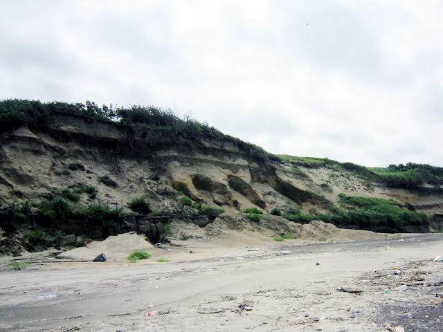 海岸段丘の浸食