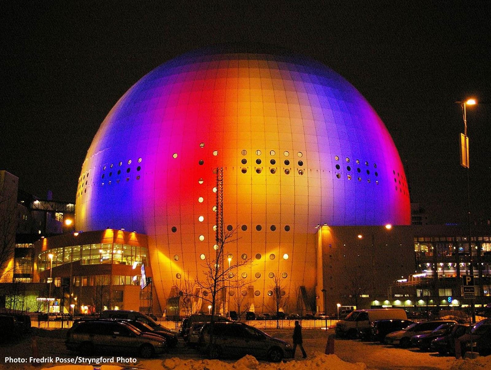 إريكسون غلوب تحفة فنية ومعمارية من السويد !