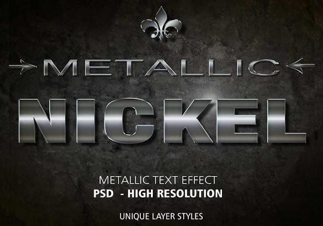 Metallic PSD Text Effect