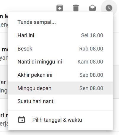 Cara menunda menunda pesan di gmail