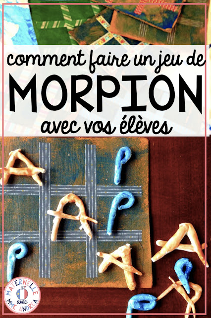 Looking for a great Father's/Mother's Day craft or fun way for your French students to practice their letters? Check out this blog post to read all about how to make homemade tic-tac-toe games with your students! Comment faire un jeu de morpion avec vos élèves du primaire